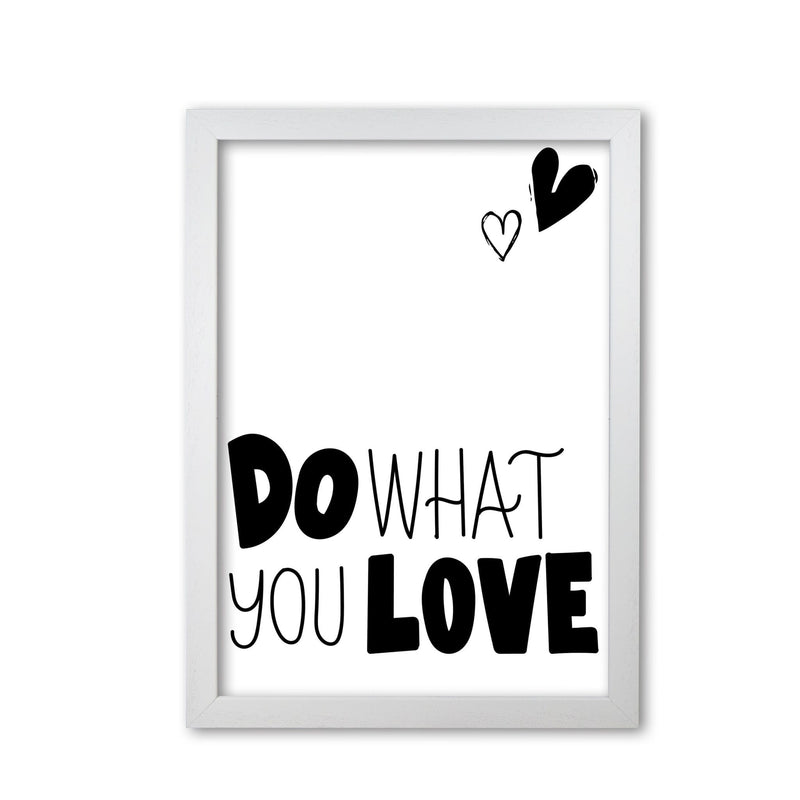Do what you love modern fine art print, framed typography wall art