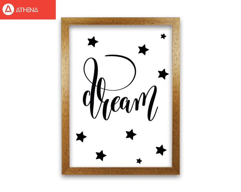 Dream black modern fine art print, framed typography wall art