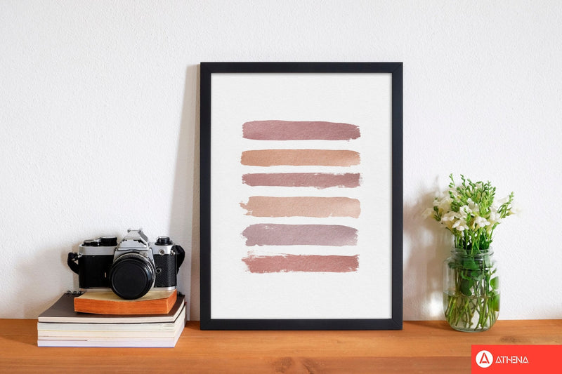Dusty rose stripes fine art print by orara studio