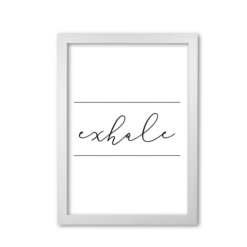 Exhale modern fine art print, framed typography wall art