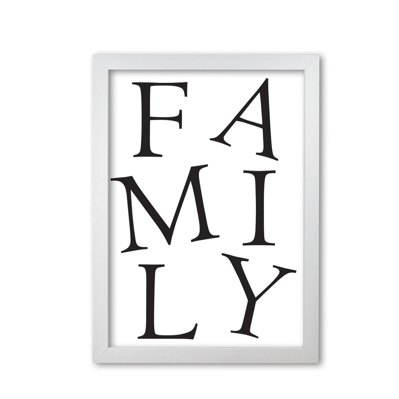 Family modern fine art print, framed typography wall art