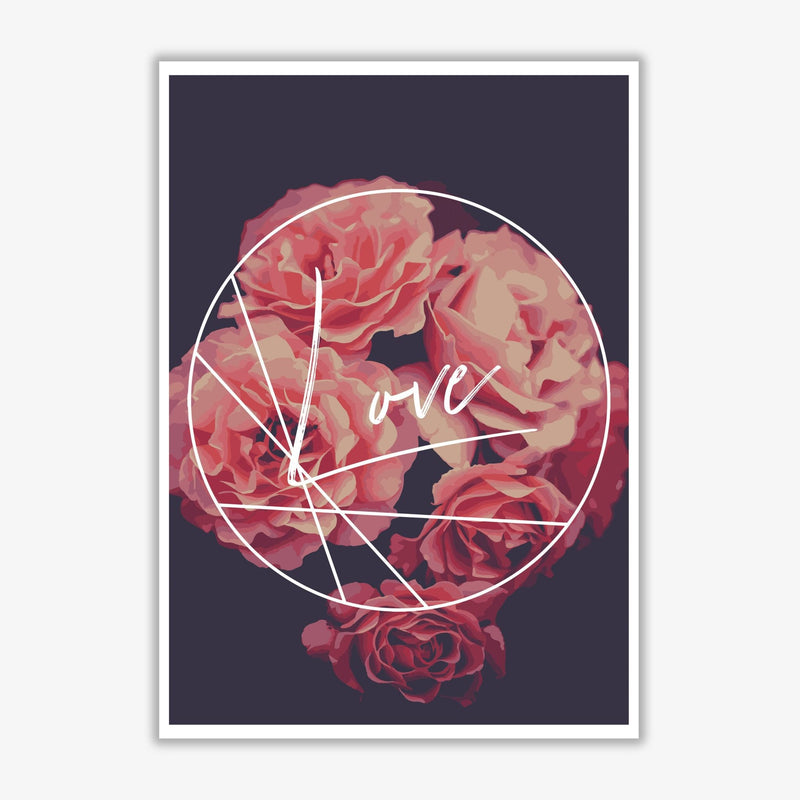 Floral love modern fine art print, framed botanical &