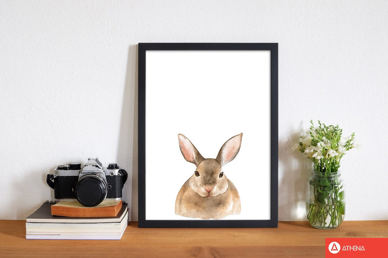 Forest friends, cute bunny modern fine art print