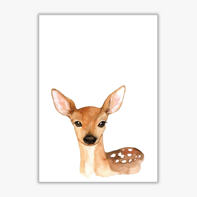 Forest friends, cute deer modern fine art print