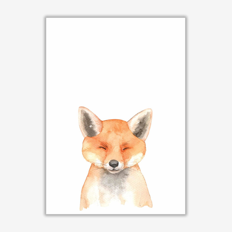 Forest friends, cute fox modern fine art print
