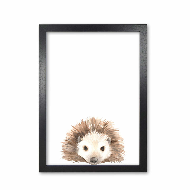 Forest friends, cute hedgehog modern fine art print