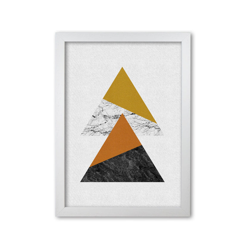 Geometric triangles fine art print by orara studio