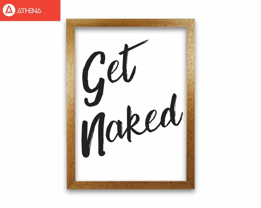 Get Naked 2 Bathroom Modern Print Framed Bathroom Wall Art