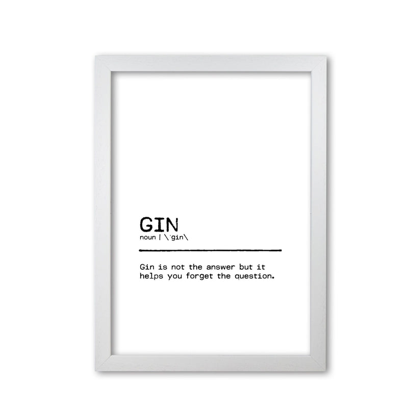 Gin forget definition quote fine art print by orara studio