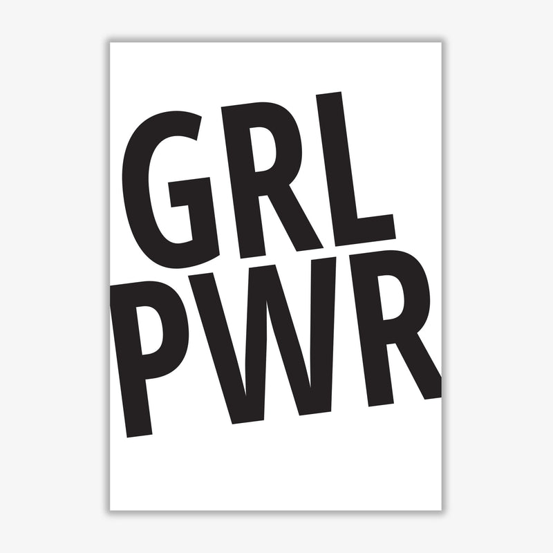 Girl power modern fine art print, framed typography wall art