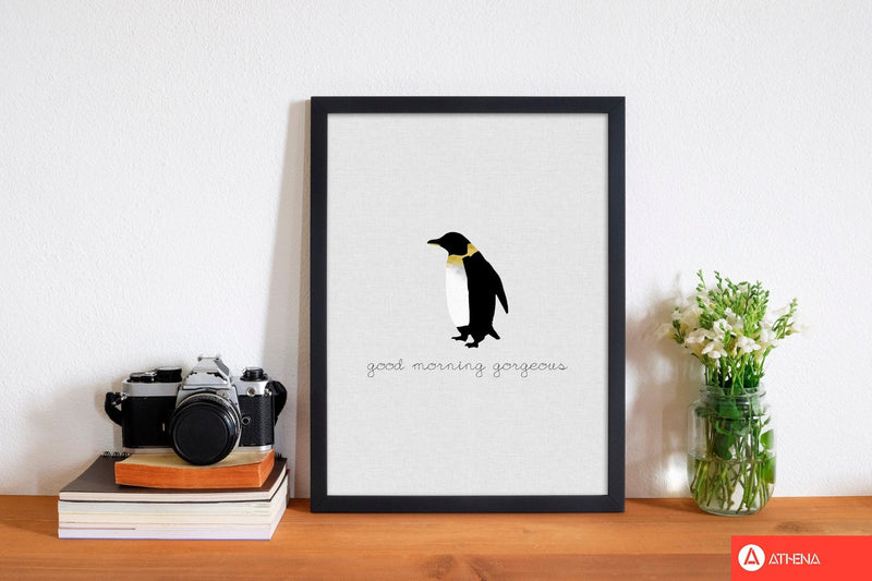 Good morning gorgeous animal quote fine art print by orara studio