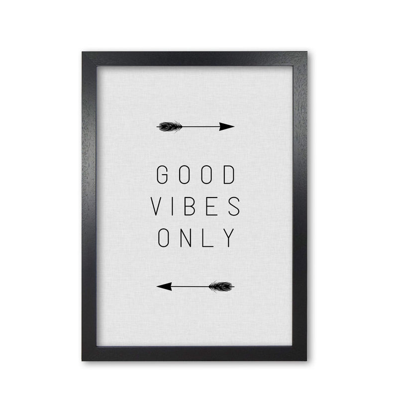 Good vibes only arrow quote fine art print by orara studio