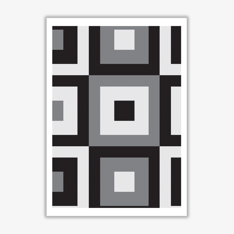 Grey abstract patterns 1 modern fine art print