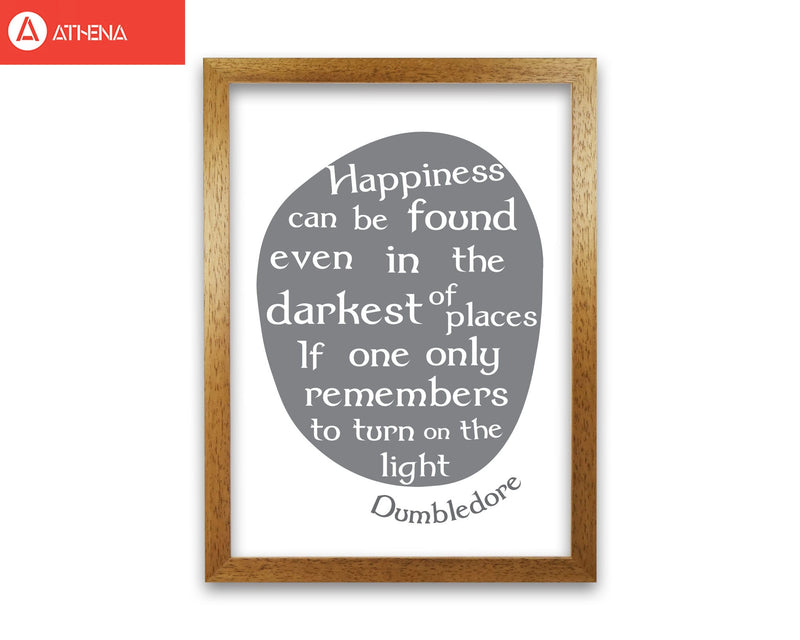 Happiness, dumbledore quote modern fine art print, framed typography wall art
