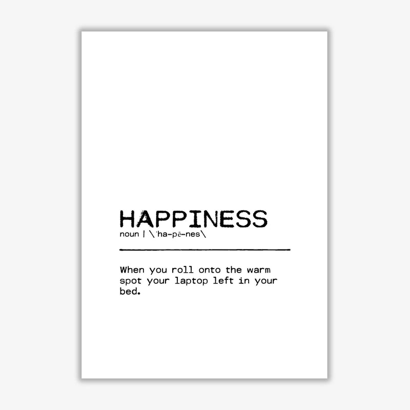 Happiness laptop definition quote fine art print by orara studio