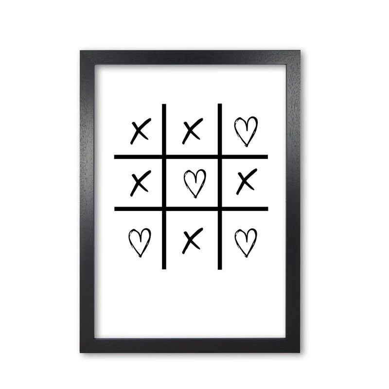 Hearts and crosses modern fine art print