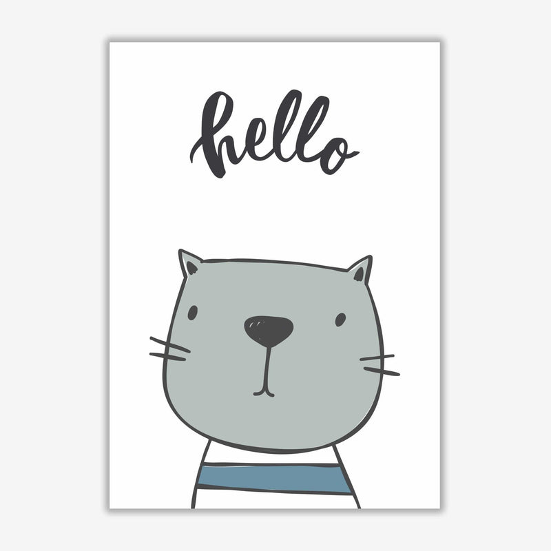 Hello cat modern fine art print