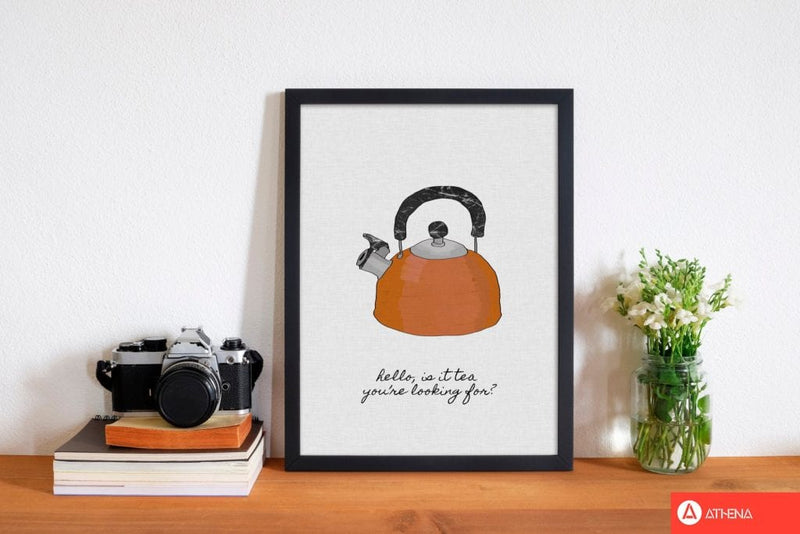 Hello is it tea fine art print by orara studio, framed kitchen wall art