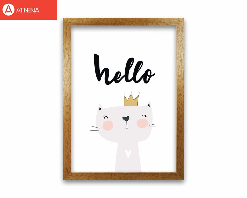 Hello scandi cat modern fine art print