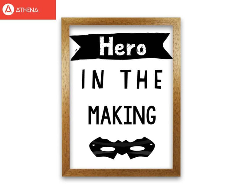 Hero in the making modern fine art print, framed childrens nursey wall art poster