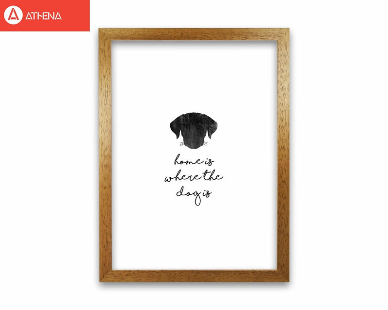 Home is where the dog is fine art print by orara studio