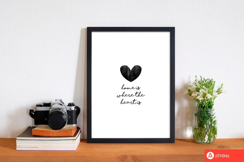 Home is where the heart is fine art print by orara studio