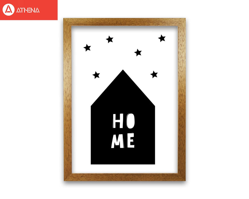 Home scandi modern fine art print, framed typography wall art