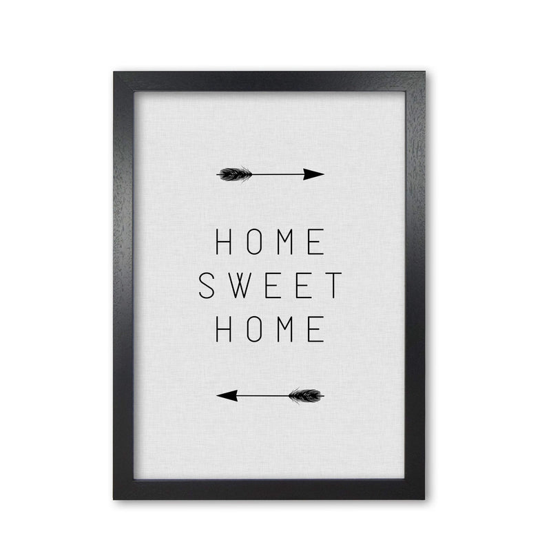 Home sweet home arrow quote fine art print by orara studio