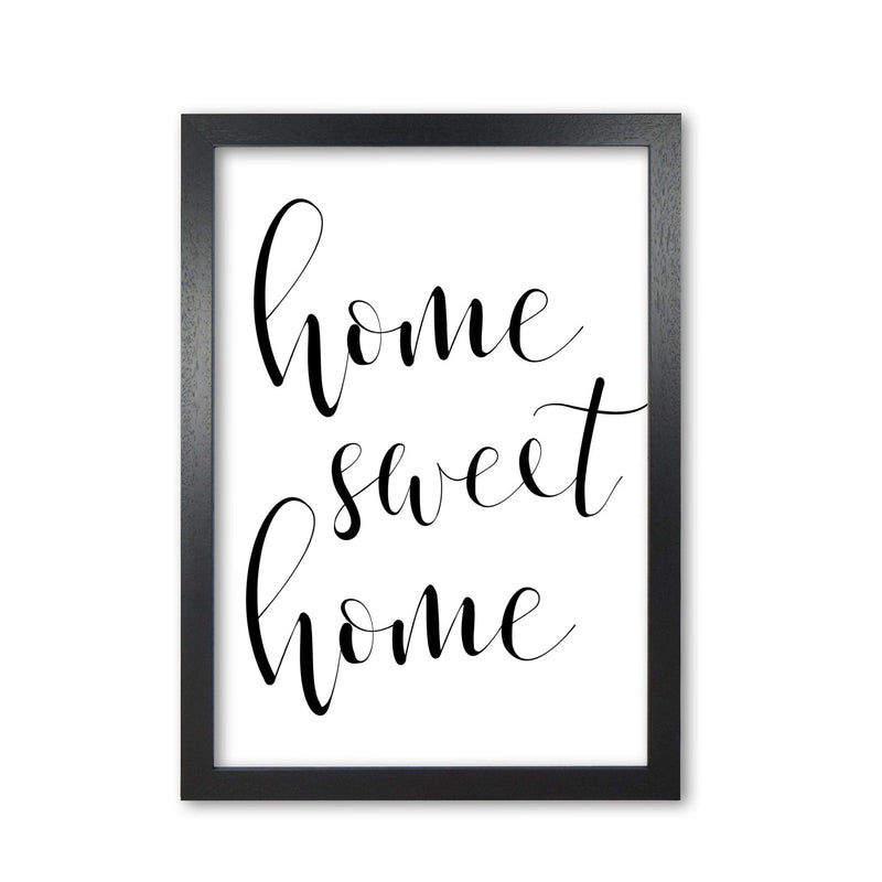 Home sweet home modern fine art print, framed typography wall art