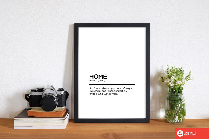 Home welcome definition quote fine art print by orara studio