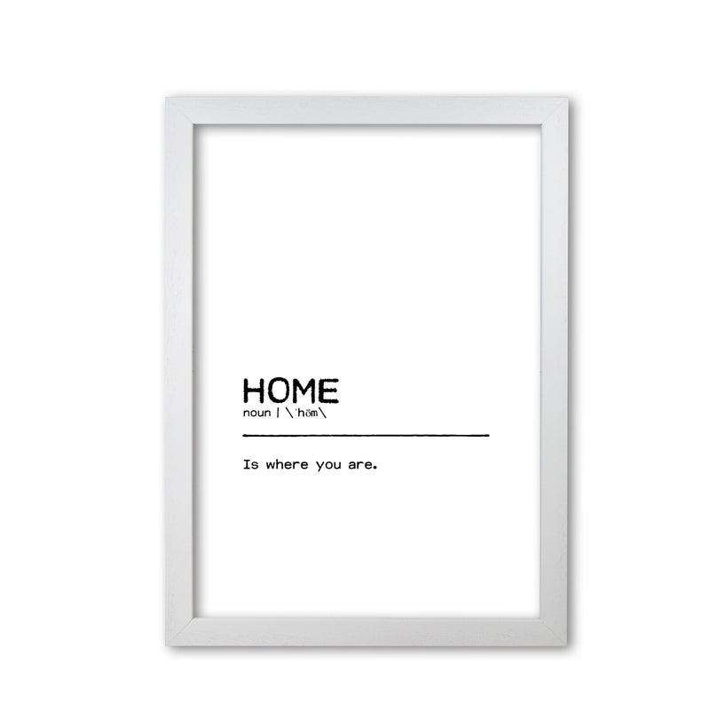 Home you definition quote fine art print by orara studio