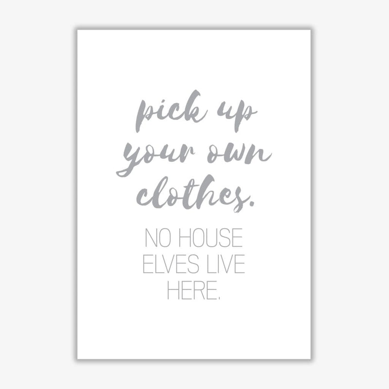 House elves grey, bathroom modern fine art print, framed typography wall art