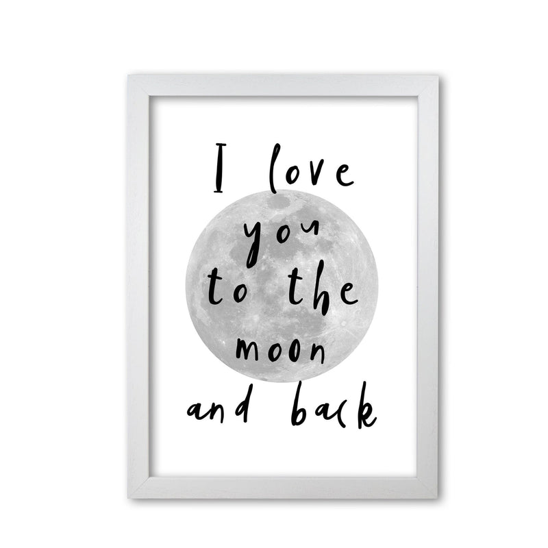 I love you to the moon and back black modern fine art print, framed typography wall art