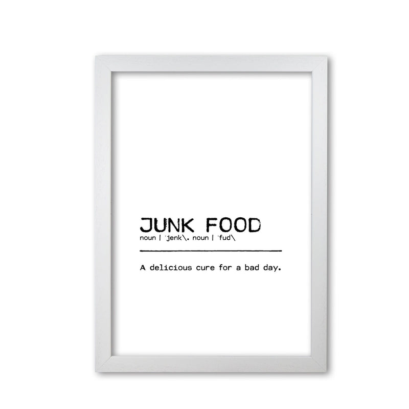 Junk food delicious definition quote fine art print by orara studio