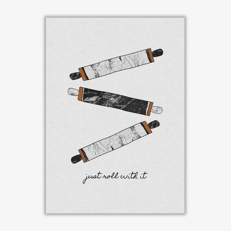 Just roll with it fine art print by orara studio, framed kitchen wall art