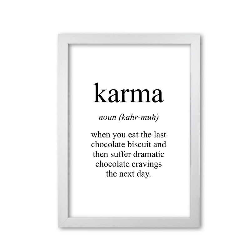 Karma modern fine art print, framed typography wall art