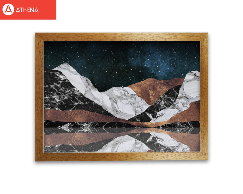 Landscape mountains fine art print by orara studio, framed botanical &