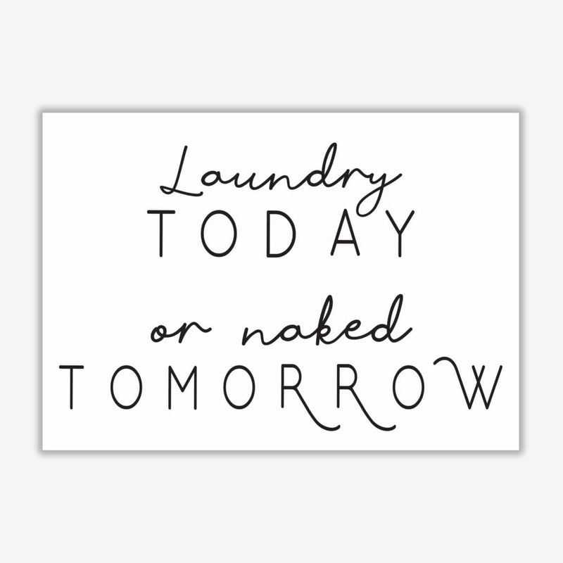 Laundry today landscape, bathroom modern fine art print, framed bathroom wall art