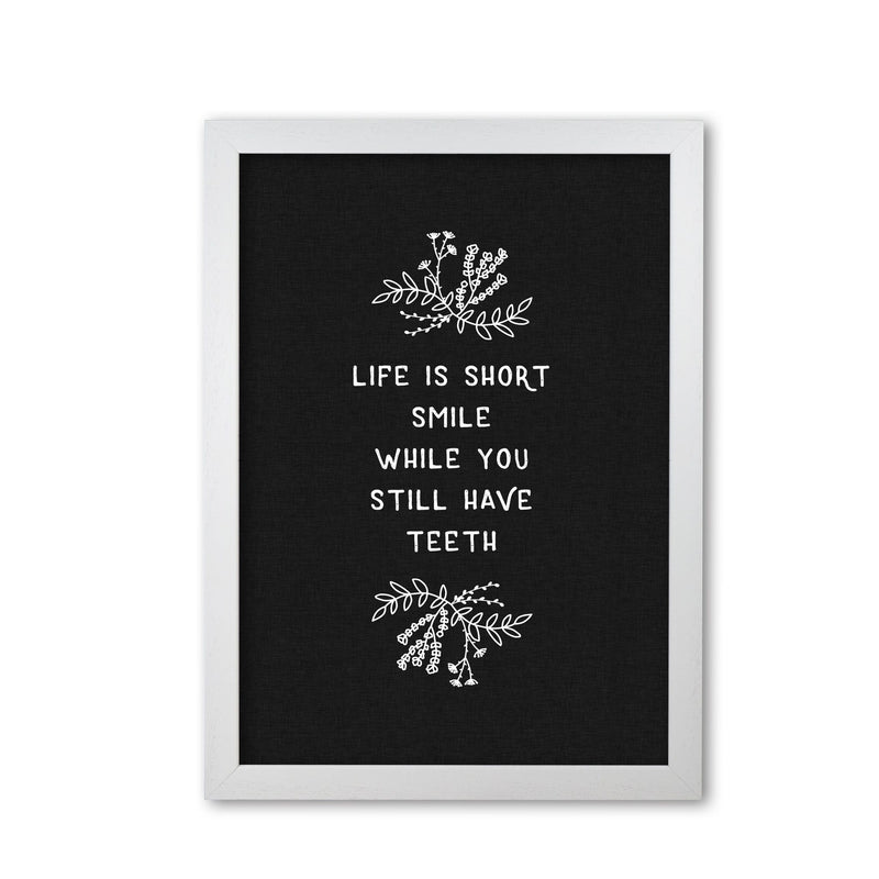 Life is short funny quote fine art print by orara studio