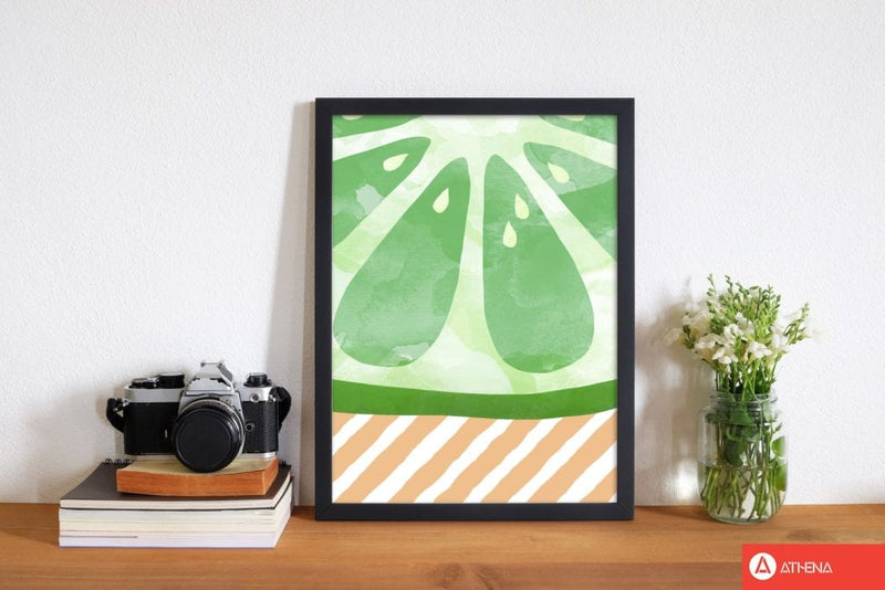 Lime abstract fine art print by orara studio, framed kitchen wall art