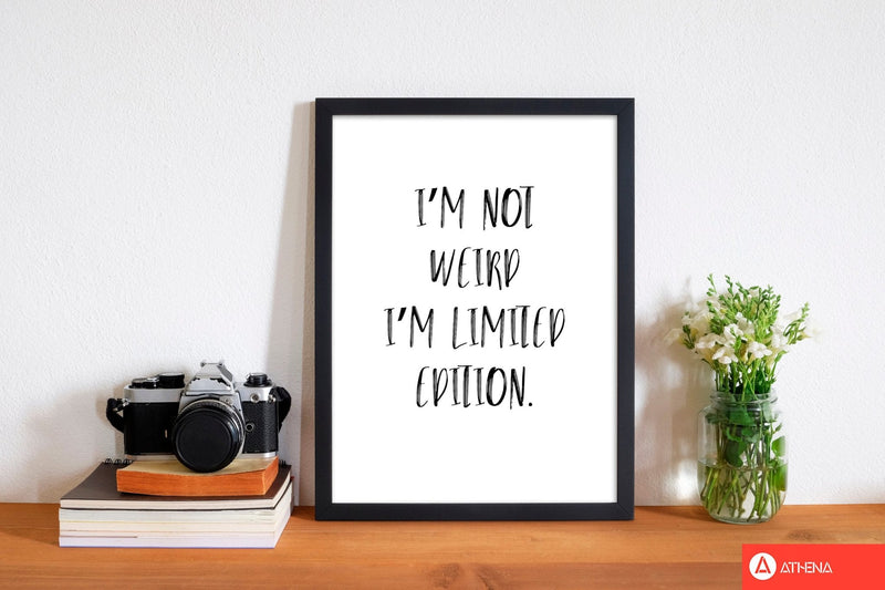 Limited edition modern fine art print, framed typography wall art