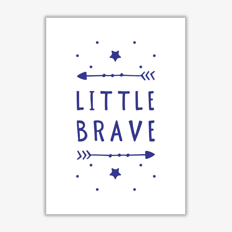 Little brave navy modern fine art print, framed typography wall art
