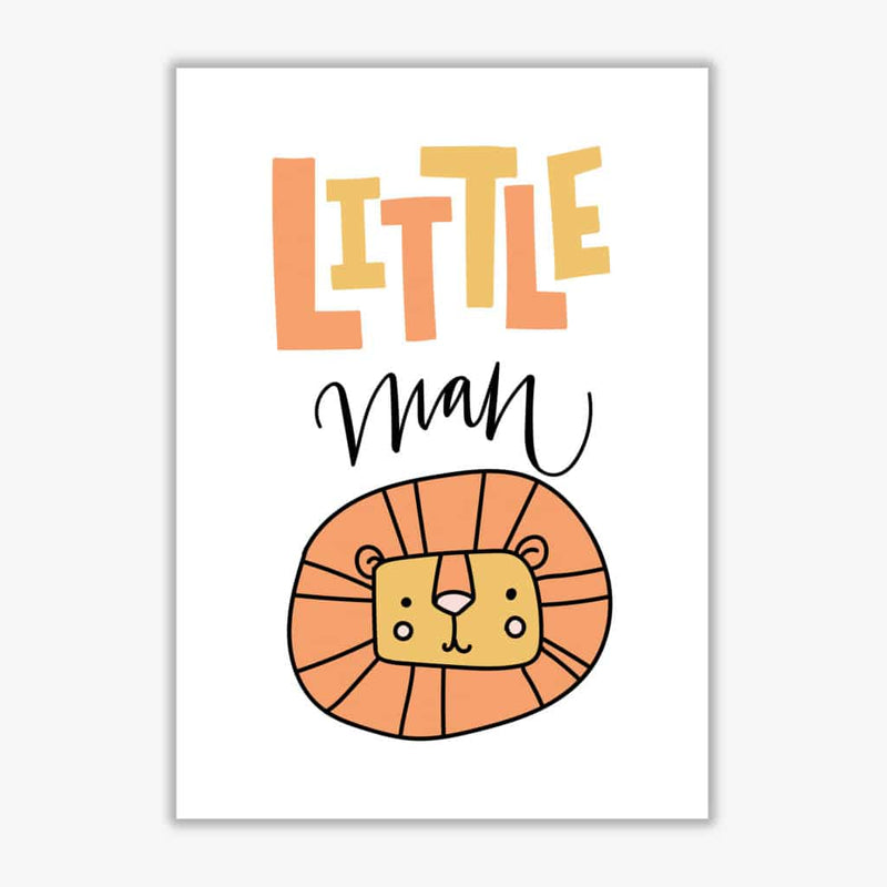 Little lion man modern fine art print, framed childrens nursey wall art poster