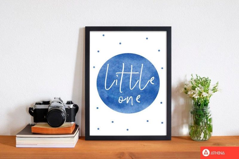 Little one blue watercolour modern fine art print