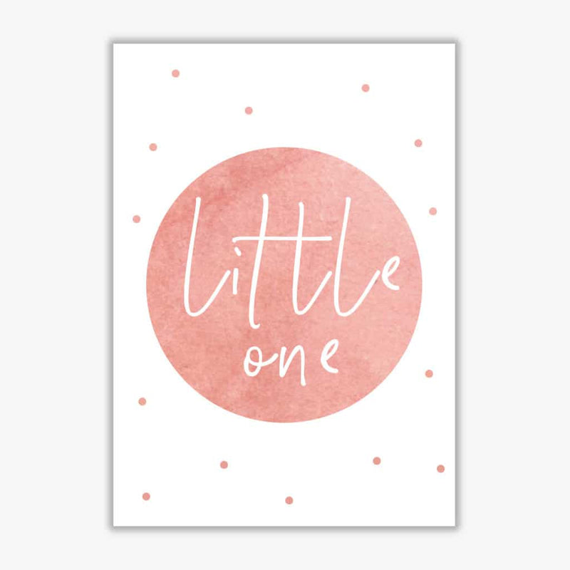 Little one peach watercolour modern fine art print