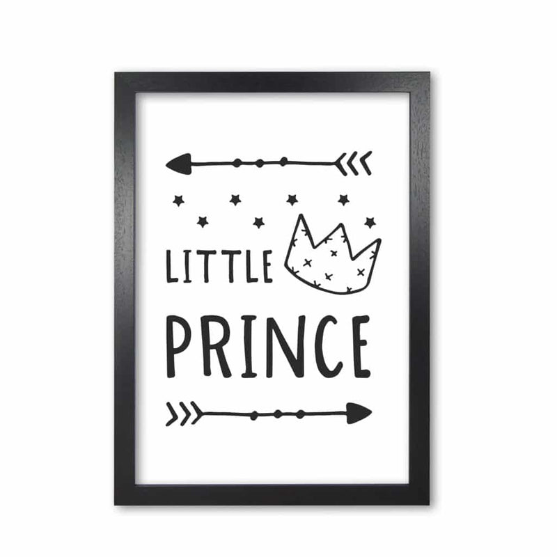 Little prince black modern fine art print, framed childrens nursey wall art poster
