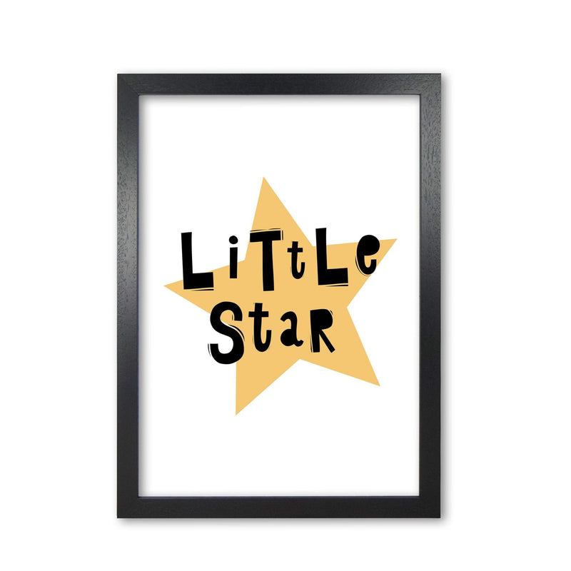 Little star scandi modern fine art print, framed typography wall art