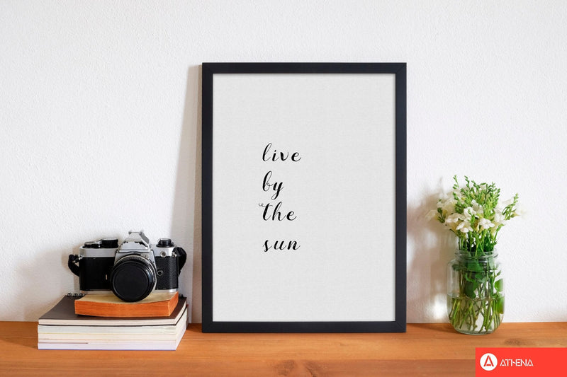 Live by the sun fine art print by orara studio