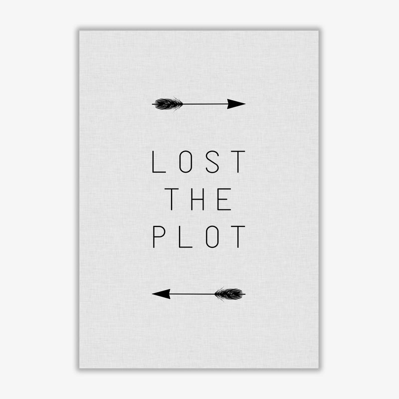 Lost the plot arrow quote fine art print by orara studio