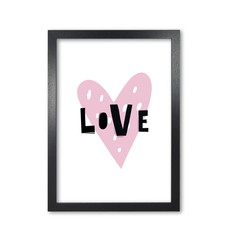 Love heart scandi modern fine art print, framed typography wall art